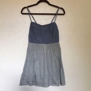 Mimi Chica Denim and striped  dress